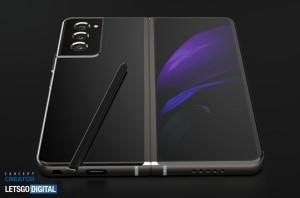 Samsung Galaxy Z Fold 3 показали на рендерах