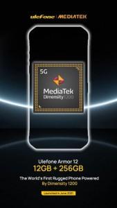 Защищенный телефон Ulefone Armor 12 с процессором Dimensity 1200 5G