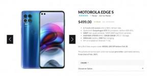 Motorola Edge S уже активно продается