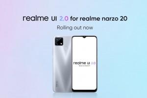 Realme Narzo 20 второй телефон компании получивший стабильное обновление Android 11