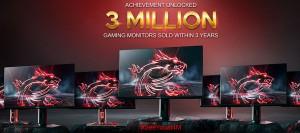 MSI продала три миллиона мониторов с 2016 года