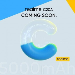 Realme C20A скоро появится с батареей емкостью 5000 мАч