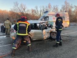 В столкновении трех машин один человек погиб, двое пострадали