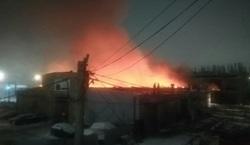В Саратове произошел крупный пожар на СТО