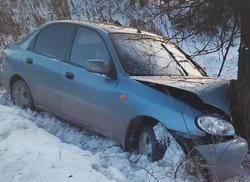 Из врезавшегося в дерево 'Шанса' в больницу увезли двух взрослых и двух детей