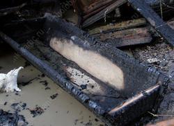 Мужчина погиб при пожаре новогодним утром
