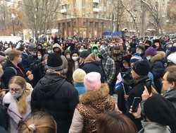 После акции в поддержку Навального задержали трех подростков