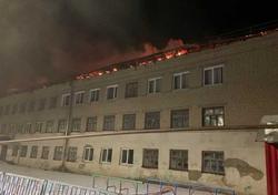 Пожар в Екатериновке. Основное здание школы не пострадало