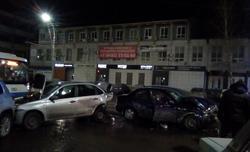 На Чернышевского 'Ланос' врезался в 4 автомобиля