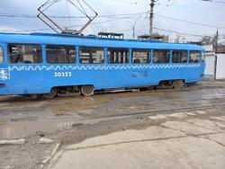 Московский трамвай сошел с рельсов во время обкатки