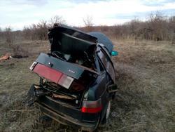 Водитель съехал на 'десятке' в кювет и погиб