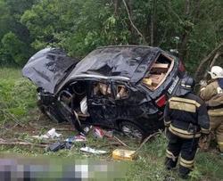 В перевернувшемся в кювете 'БМВ' погиб водитель