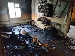 В огне погиб пожилой мужчина