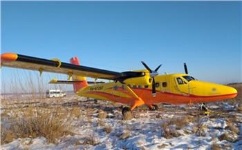 В красноярском аэропорту «Черемшанка» самолет выкатился за взлетную полосу