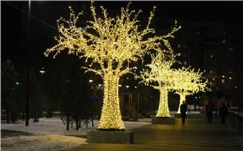Сегодня в Красноярске заработает новогодняя иллюминация