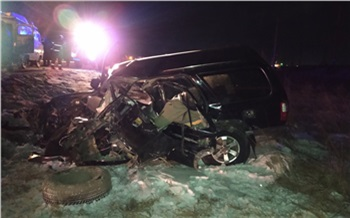 Под Березовкой Toyota Surf превратился в груду металла после столкновения с экскаватором. Погибли трое