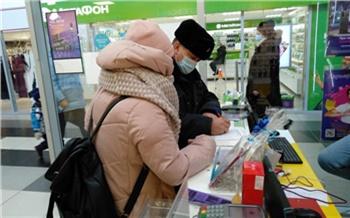В торговых центрах правого берега проверяют соблюдение масочного режима