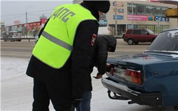 В Красноярске прошел масштабный рейд по поиску машин с недействительными номерами
