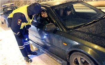 На выходных в Красноярске поймали 38 пьяных водителей