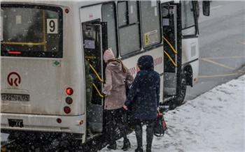 После самой морозной ночи недели на линию вышло 94% красноярского общественного транспорта