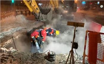 Энергетики завершили ремонт трубопровода на пр. Комсомольский в Красноярске. Тепло возвращается в квартиры