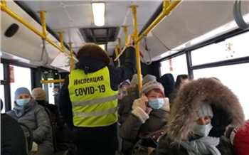 В Красноярске с начала года из-за несоблюдения масочного режима с линии сняли 39 автобусов