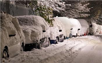 Из-за снегопада на юге Красноярского края ограничили движение пассажирского транспорта