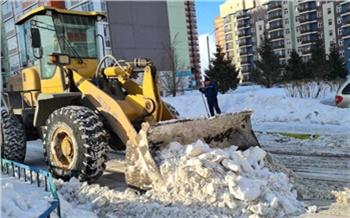Александр Усс поручил увеличить количество спецтехники для очистки дворов Красноярска от снега