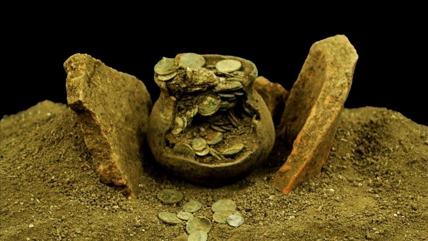 В Турции обнаружили клад римских монет