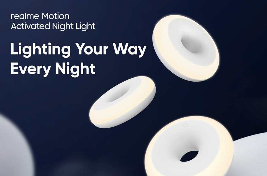Realme выпустила ночник Motion Activated Night Light, определяющий движение