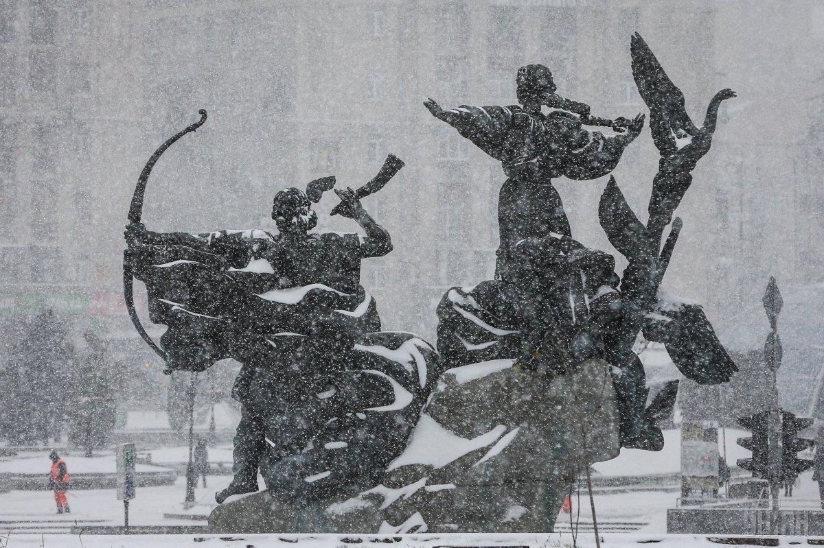 В Киеве ночью ожидается усиление снегопада