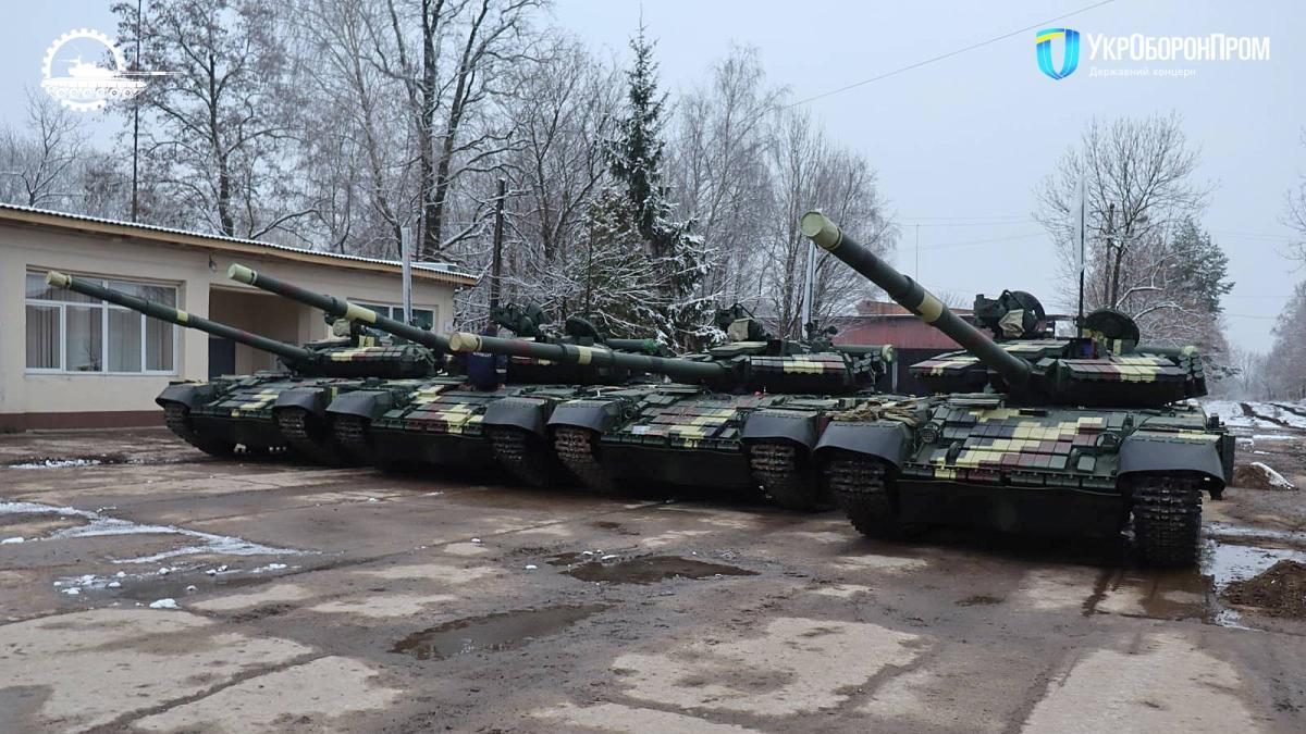 Украинским военным передали модернизированные танки Т-64