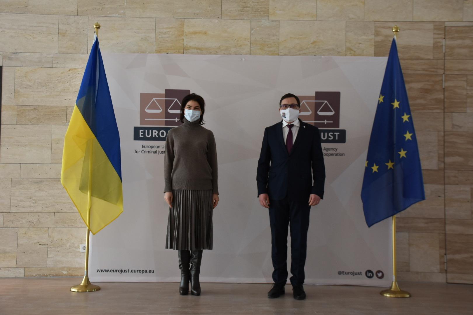 Венедиктова встретилась с президентом Евроюста Ладиславом Хамраном
