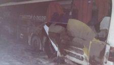 В ДТП с автобусом пострадали девять кузбассовцев