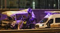 В Подмосковье 50 военных пострадали в ДТП с четырьмя автобусами
