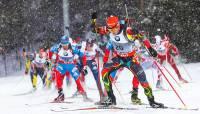 Россияне завоевали «бронзу» в эстафете на этапе КМ по биатлону в Антхольце