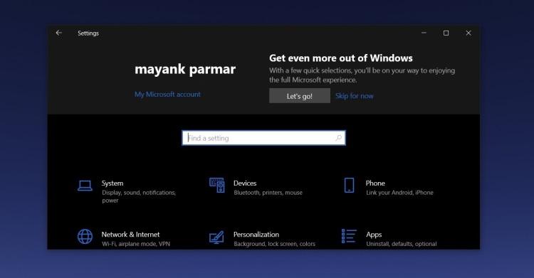 Microsoft добавила рекламу в настройки Windows 10