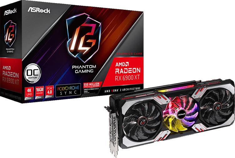 ASRock представила видеокарту Radeon RX 6900 XT Phantom Gaming D OC с разгоном и подсветкой