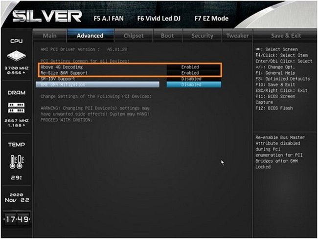 Платы Biostar на AMD B550 и X570 получили поддержку Smart Access Memory. Модели на AMD B450 и X470 следующие