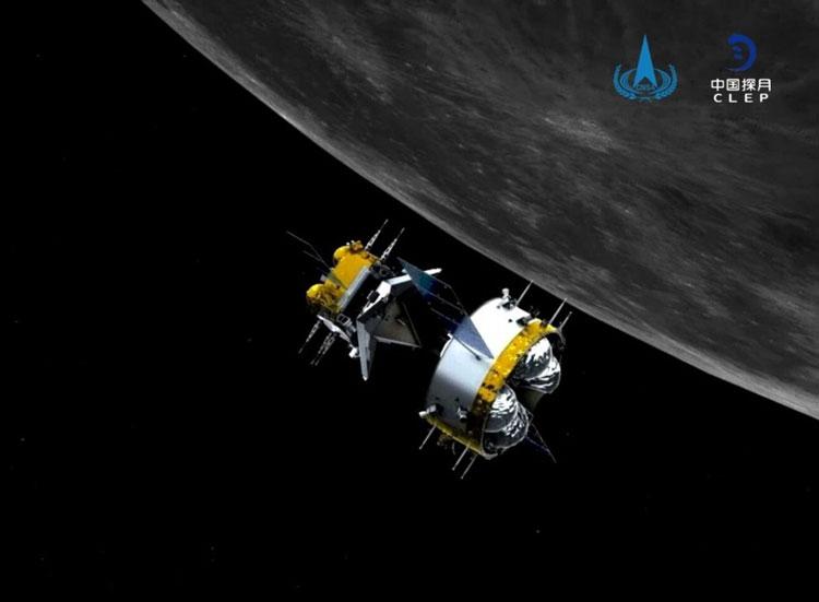 Китайский КА «Чанъэ-5» с лунными образцами завершил первый из двух манёвров для ухода от Луны