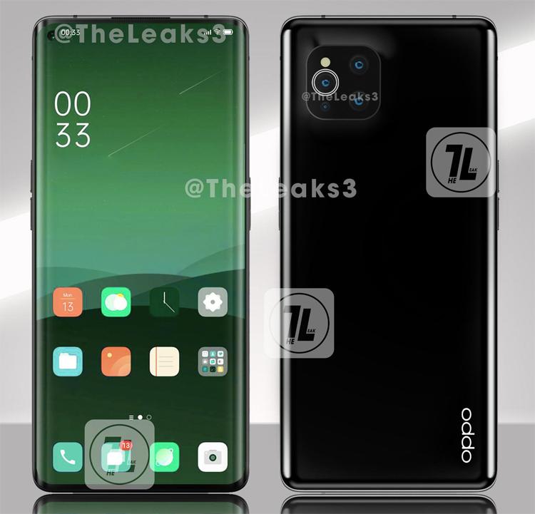Мощный смартфон OPPO Find X3 Pro с четверной камерой предстал на рендерах