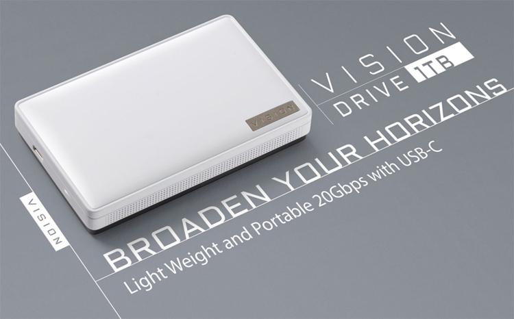 Gigabyte представила Vision Drive — портативный SSD со скоростью передачи данных до 2000 Мбайт/с
