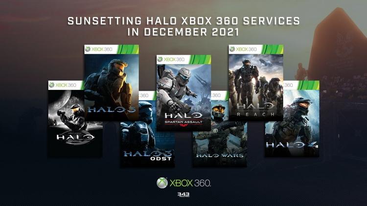 Серверы и другие службы Halo для Xbox 360 будут отключены в декабре 2021 года