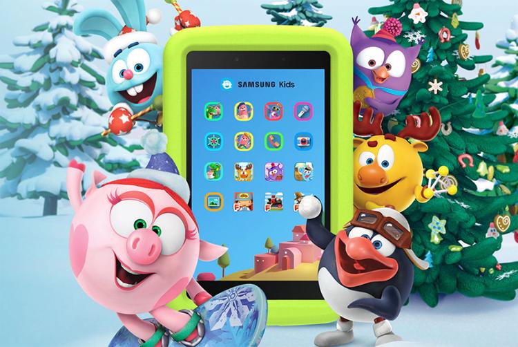 Детский планшет Samsung Galaxy Tab A 8.0' Kids Edition с ярким экраном стоит 11 990 рублей
