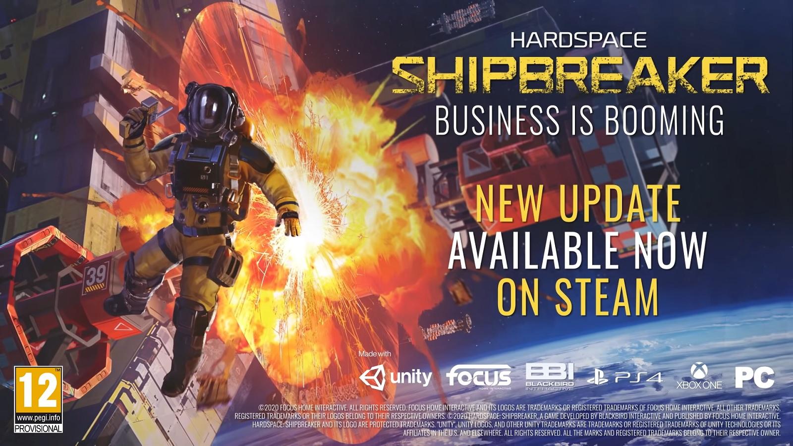 Симулятор утилизатора космических кораблей Hardspace: Shipbreaker получил «взрывное» обновление