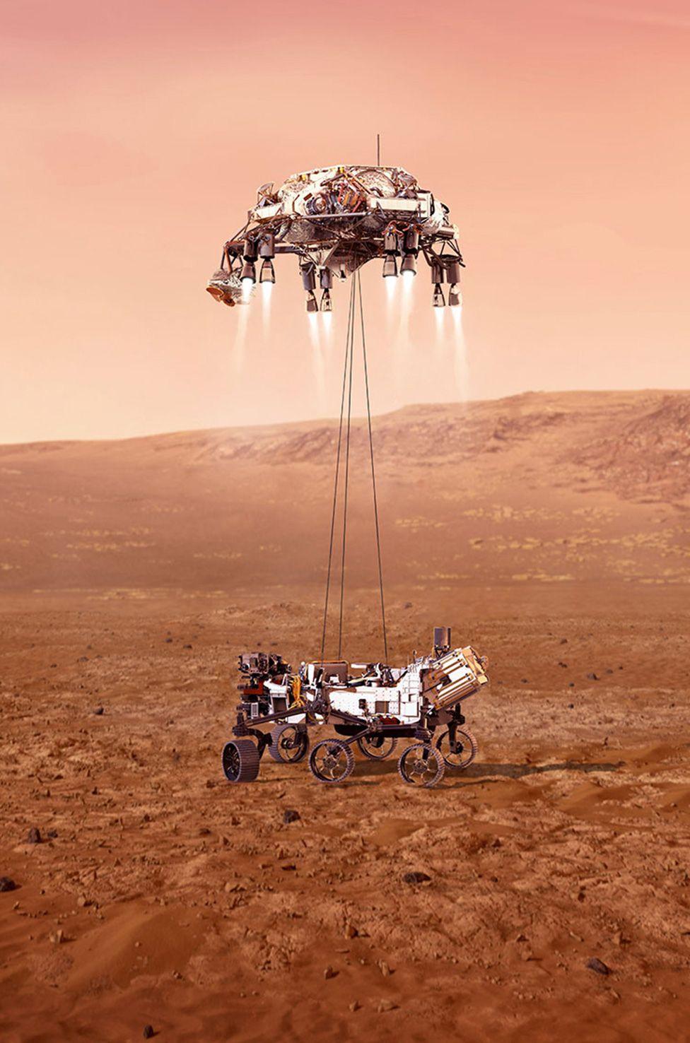 NASA показало, что ждёт марсоход «Настойчивость» при посадке на Красную планету 18 февраля
