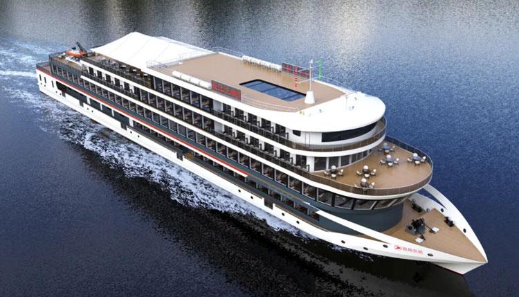 В Китае начали строить самое большое в мире электрическое круизное судно на 1300 пассажиров