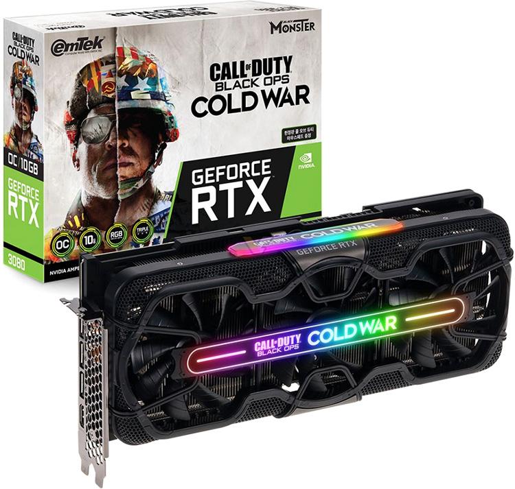 Emtek посвятила новой Call of Duty специальные версии видеокарт GeForce RTX 3080 и RTX 3070