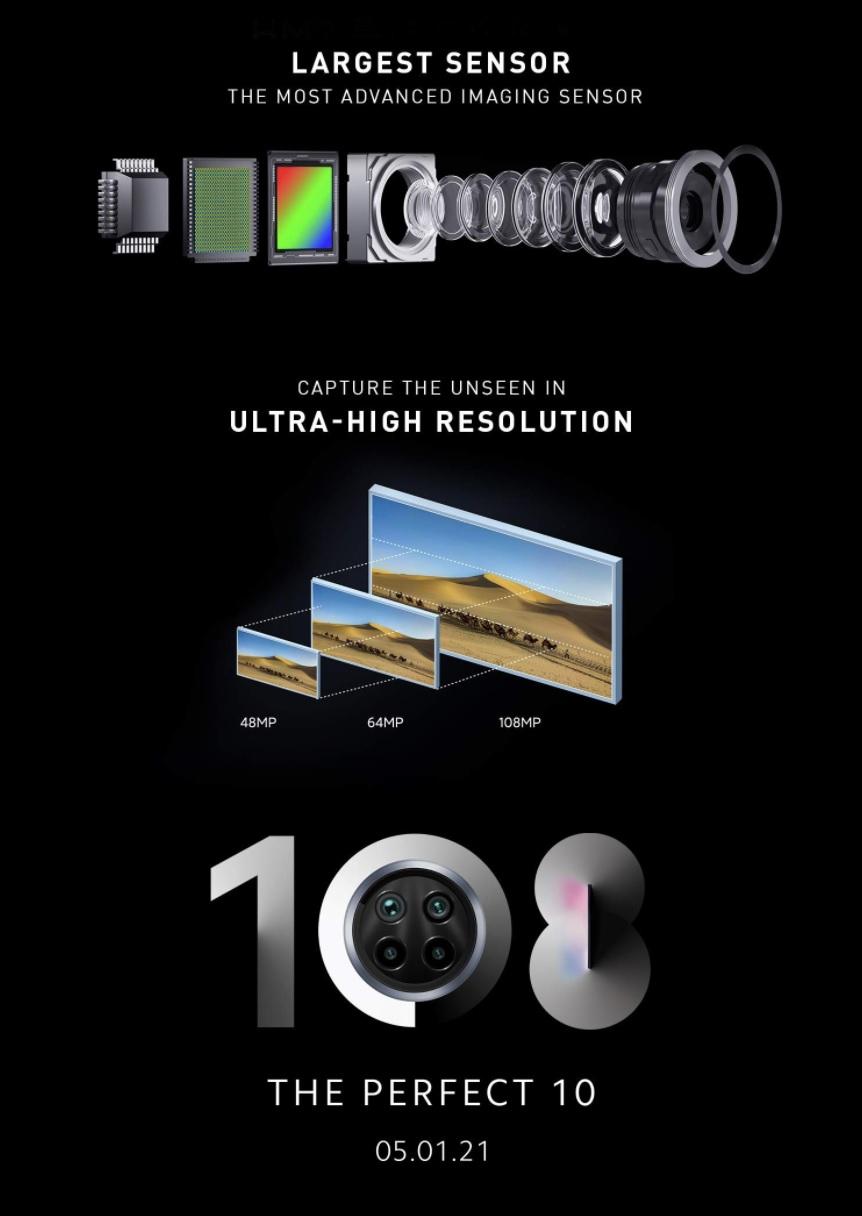 Xiaomi Mi 10i 5G будет построен на Snapdragon 750G и получит новый 108-Мп сенсор основной камеры