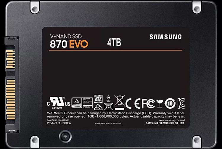 Данные о характеристиках и ценах SSD Samsung 870 EVO SATA указывают на скорый анонс